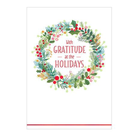 Holiday Happiness Wreath Business Hallmark Card