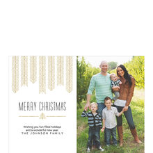 Modern Golden Christmas Trees Hallmark Photo Card