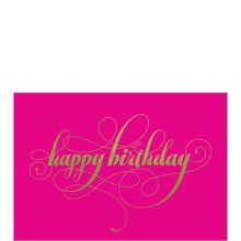 Happy Birthday Gold on Pink Business Hallmark Card