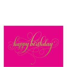 Happy Birthday Gold on Pink Business Hallmark Card