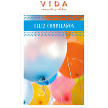 Birthday Balloons Spanish Business Hallmark Card