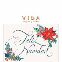 Christmas Poinsettias Spanish Business Hallmark Card