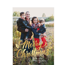 Shining Merry Christmas Lettering Full Photo Hallmark Card