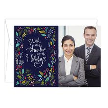 Photo Holiday Card (Thanks at the Holidays) for Business