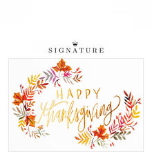 Watercolor Shining Thanks Business Thanksgiving Card