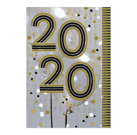 2020 New Year Gold and Black Business Hallmark Card
