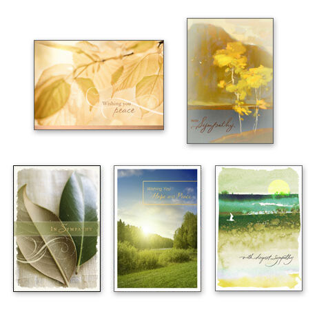 Assorted Sympathy Cards for Business, 25 Pack