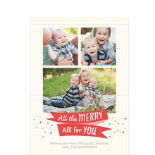 All the Merry Hallmark Christmas Photo Collage Card