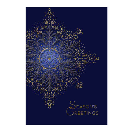 Gold Jeweled Snowflake Holiday Business Hallmark Card