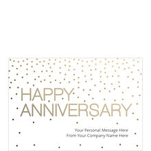 Gold Anniversary Personalized Cover Business Hallmark Card