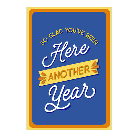 Work Anniversary Card (Glad You're Here) for Employees
