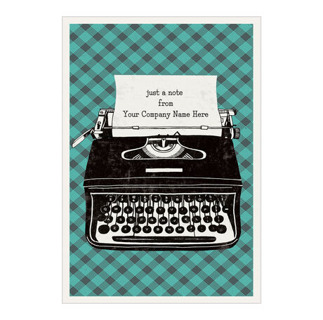 Typewriter Personalized Cover Business Hallmark Card