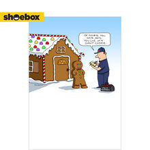 Gingerbread Funny Holiday Business Hallmark Card