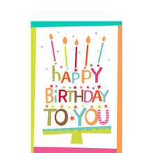 Birthday lettering cake cards hallmark business connections birthday lettering cake reheart Image collections