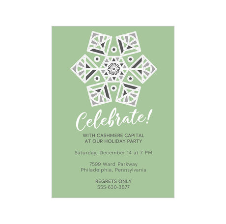 Snowflake Celebration Design Your Own Business Hallmark Holiday Invitation