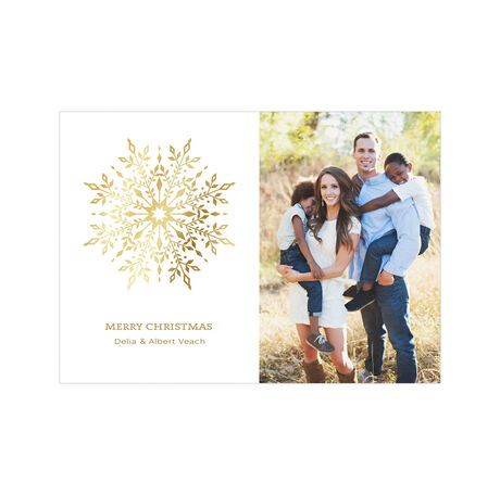 Gilded Snowflake Hallmark Holiday Photo Card