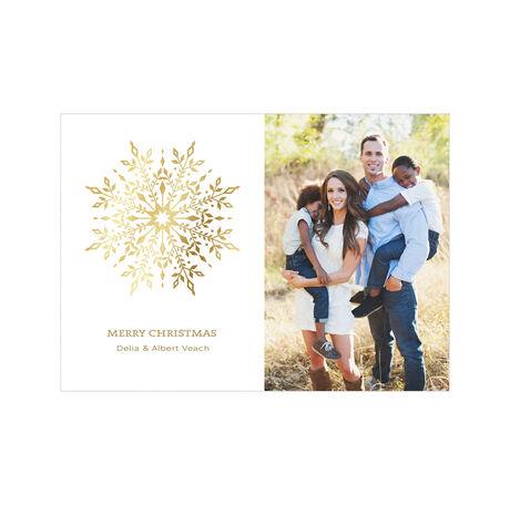 Gilded Snowflake Hallmark Holiday Photo Card
