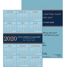 2020 Blue Diamond Paper Calendar Card
