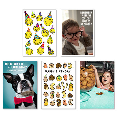 Assorted Funny Birthday Cards for Business, 25 Pack