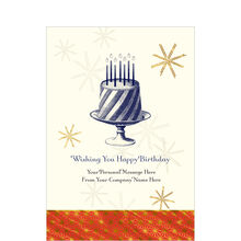 Birthday Cake Personalized Cover Business Hallmark Card