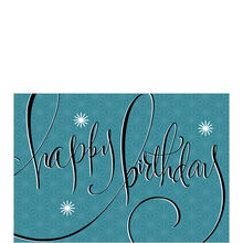 Retro Stars on Blue Birthday Business Hallmark Card