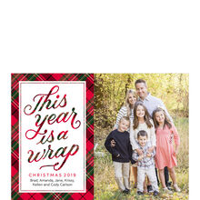 2019 Wrapped in Plaid Hallmark Holiday Photo Card