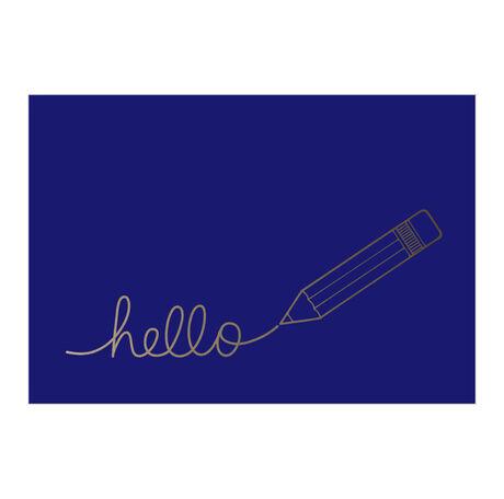 Silver Pencil Hello Business Hallmark Card
