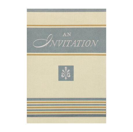 Fleur-de-Lis Invitation