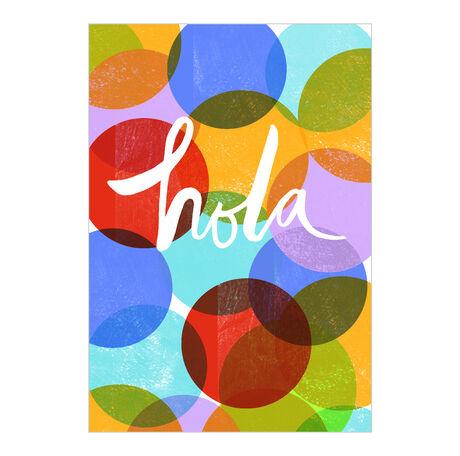 Bright Circles Hello Spanish Business Hallmark Card