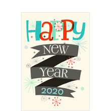 2020 New Year Retro Stars Business Holiday Card