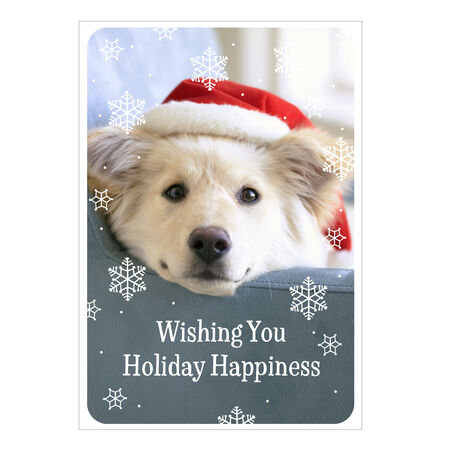 Holiday Card (Happy Santa Pup) for Business