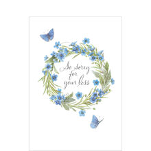 Marjolein Bastin Sympathy Card (Butterflies & Wreath) for Business