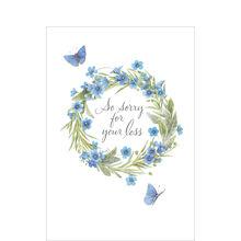 Marjolein Bastin Sympathy Card (Butterflies & Wreath) for Business