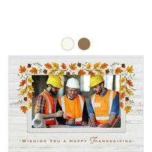 Autumn Leaves Thanksgiving Business Hallmark Photo Card