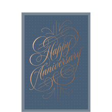 Copper Calligraphy Work Anniversary Hallmark Card