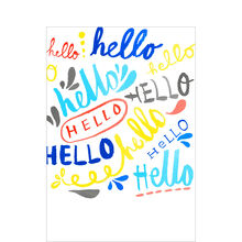 Lettered Hellos Welcome Business Hallmark Card