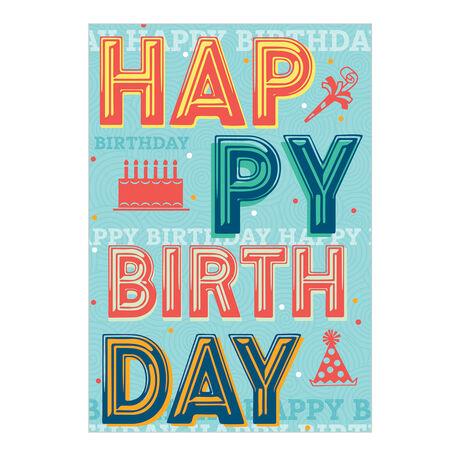 Multicolored Birthday Mirth