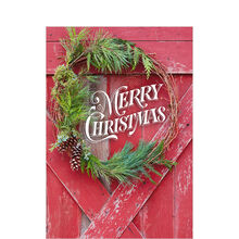 Rustic Christmas Barn Door Business Hallmark Card