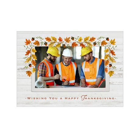 Autumn Leaves Thanksgiving Business Hallmark Photo Card