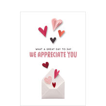 Paper Heart Appreciation Valentine's Business Hallmark Card