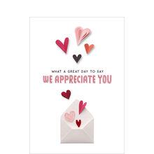 Paper Heart Appreciation Valentine's Business Hallmark Card