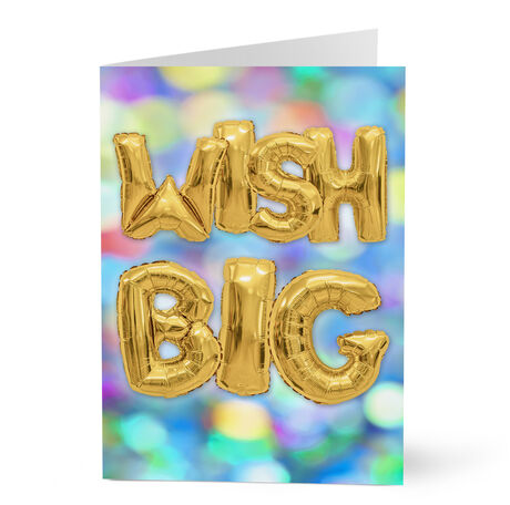 Wish Big Birthday Balloons Business Hallmark Card