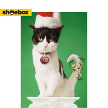 Bells on Cat Funny Holiday Business Hallmark Card