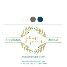 Join Us Laurel Wreath Design Your Own Business Invitation