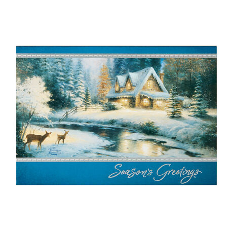 Thomas Kinkade Deer Creek Cottage Holiday Cards Greeting Cards