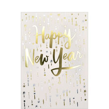 Gold & Silver Happy New Year Card