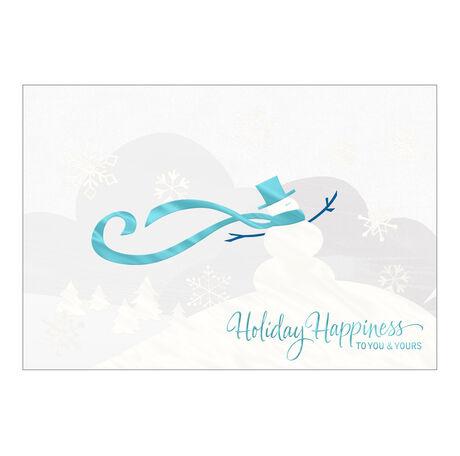 Stylish Snowman Holiday Business Hallmark Card
