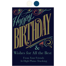 Happy Birthday and All the Best Design Your Own Business Hallmark Card