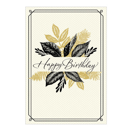 Happy Birthday Leaves Business Hallmark Card