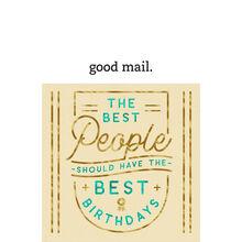 Best People Best Birthdays Business Hallmark Card